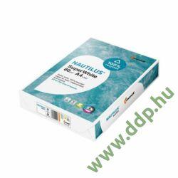 Fénymásolópapír A/4 80g Nautilus SuperWhite recycled 500ív/csomag -180060945-