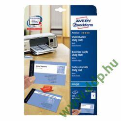 Névjegypapír 32015 85x54mm 220g 25ív fotó minőség Avery-Zweckform névjegykarton -C32015-25-