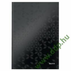 Beíró A/4 WOW, lakkfényű, vonalas, fekete LEITZ -46251095-