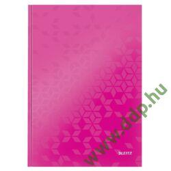 Beíró A/4 WOW, lakkfényű, vonalas, rózsaszín LEITZ -46251023-