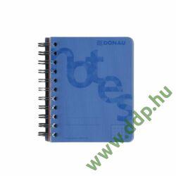 Spirálfüzet A/6 kockás 140 lap 80g kockás PP borító kék DONAU