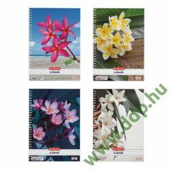 Spirálfüzet A/4 70 lap kockás Flower HERLITZ