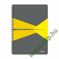 Spirálfüzet A/4 kockás LEITZ Office PP borítóval sárga -44950015-