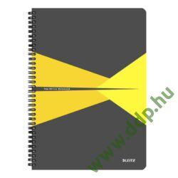 Spirálfüzet A/4 vonalas LEITZ Offce PP borítóval sárga -44960015-