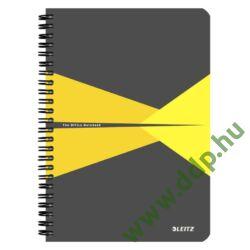 Spirálfüzet A/5 kockás LEITZ Offce PP borítóval sárga -44980015-