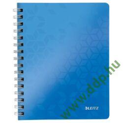 Spirálfüzet A/5 kockás LEITZ WOW kék -46410036-