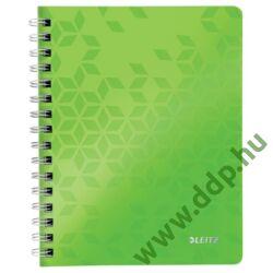 Spirálfüzet A/5 kockás LEITZ WOW zöld -46410064-
