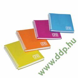 Spirálfüzet A/5 80lap 80g One Color PP borítóval 2938 kockás -152050224-
