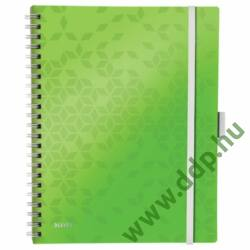 Spirálfüzet Leitz WOW Active, A4, vonalas, zöld -46440064-
