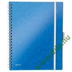 Spirálfüzet Leitz WOW Active, A4, kockás, kék -46450036-