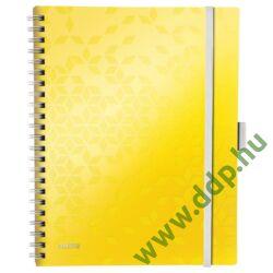 Spirálfüzet Leitz WOW Active, A4, kockás, sárga