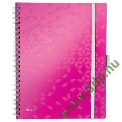 Spirálfüzet Leitz WOW Active, A4, kockás, rózsaszín -46450023-