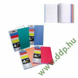 Spirálfüzet MQ 4 Notebook A/5-4x25 lapos négyzetrácsos, PP, 47774-75-76-77 -A15240027-