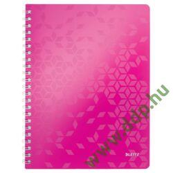 Spirálfüzet Leitz WOW, A4, vonalas, rózsaszín -46370023-