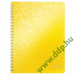 Spirálfüzet Leitz WOW, A4, kockás, sárga