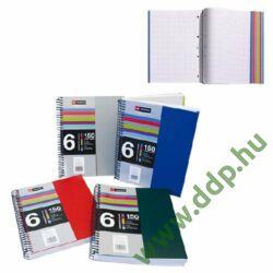 Spirálfüzet A/5 6x25 lap kockás Notebook PP LECOLOR -A15239027-