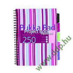Spirálfüzet A/4 Project Book kockás PROBA4 250 oldal 5 részes regiszterrel színes pasztell borító PUKKA PAD -A15560087-