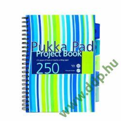 Spirálfüzet A/4 Project Book vonalas PROBA4 250 oldal 5 részes regiszterrel színes pasztell borító PUKKA PAD -A15555081-