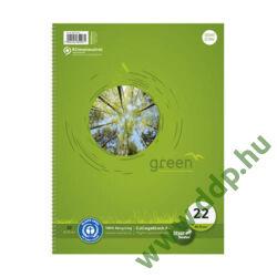Spirálfüzet A/4 80lap kockás Collegeblock 100% Recycled Ursus -608570020-