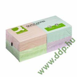 Öntapadós jegyzettömb 75x75mm rainbow pasztell 4x3x100lap/csomag Q-CONNECT -FT510282880/KF10509-