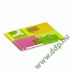 Öntapadós jegyzettömb 40x50mm neon 4x50lap/csomag Q-CONNECT -FT510283086/KF10510-