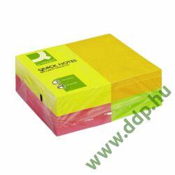 Öntapadós jegyzettömb 75x125mm rainbow neon 12x80lap/csomag Q-CONNECT -FT510282948/KF01350-