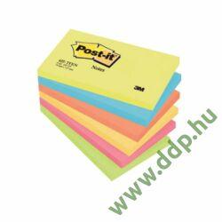 3M Post-it 655TFEN 76x127mm 100lap 6tömb neon pink öntapadós jegyzettömb -FT510283557-