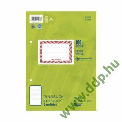 Gyűrűskönyv betét A/5 100lap vonalas -044370 10-