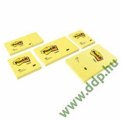 3M Post-it 655 76x127mm 100lap sárga öntapadós jegyzettömb -FT510060526-
