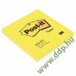 3M Post-it 654 76x76mm 100lap neon sárga 3M öntapadós jegyzettömb -FT510010174-