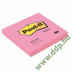 3M Post-it 654 76x76mm 100lap neon pink 3M öntapadós jegyzettömb -FT510010190-