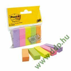 3M Post-it 670/5 jelölőlap 15x50mm 100lap 5tömb neon öntapadós jegyzettömb -FT510285917-