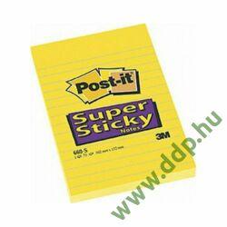 3M Post-it 660S 102x152mm vonalazott 75lap öntapadós jegyzettömb -FT510093832-