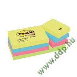 3M Post-it 653TFEN 38x51mm 100lap 12tömb neon pink 653N öntapadós jegyzettömb -FT510283532-