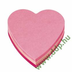 3M Post-it 2007H 140x92x23mm 225lap szív forma öntapadós jegyzettömb -FT510076563-