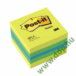 3M Post-it 2051L 51x51mm 400lap mini kocka citrus öntapadós jegyzettömb -FT510091729-