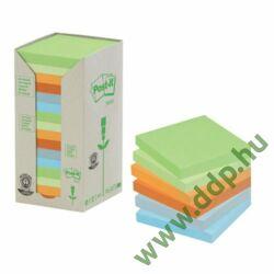 3M Post-it 654-1TRP 76x76mm 16x100lap/csm Green Line vegyes öntapadós jegyzettömb -FT510110354-