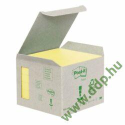 3M Post-it 654-1B 76x76mm 6x100lap/csm Green Line sárga öntapadós jegyzettömb -FT510118696-