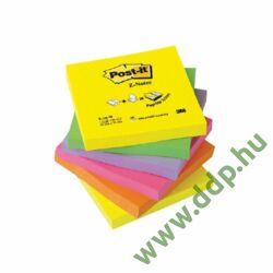 3M Post-it R-330-NR Z-szivárványcsomag 76 × 76 mm, 100 lap, 6 tömb, neon színek öntapadós jegyzettömb -FT510089939-