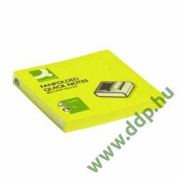 Öntapadós jegyzettömb 76x76mm ''Z'' élénk sárga Q-CONNECT 100 lap -UU000661361/KF16575-