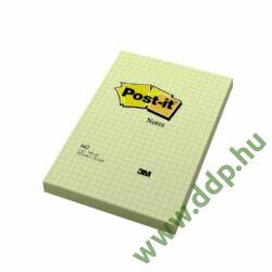 3M Post-it 662 102 × 152 mm, 100 lap, négyzethálós, kanári sárga, 6-os celofán gyűjtővel öntapadós jegyzettömb -FT510010638-