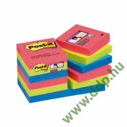 3M Post-it Super Sticky szivárványcsomag 48×48 mm, 622-12SS-JP, 90 lap, 12 tömb, Bora Bora öntapadós jegyzettömb -70005253557-