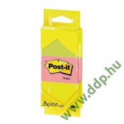3M Post-it 6812 neon öntapadós jegyzettömb csomag 51x38 mm, 3x100 lap -FT510094053-
