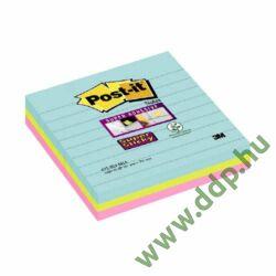 3M Post-it Super Sticky öntapadós jegyzettömb szivárványcsomag 101x101mm, 675-S3M, 70 lap, 3 tömb/csm