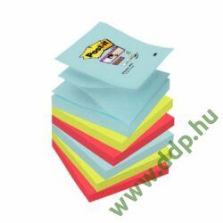 3M Post-it Super Sticky öntapadós jegyzettömb szivárványcsomag Z-szivárványcsomag 76x76mm, R3306SSMI, 90 lap, 6 tömb/csm