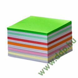 Kockatömb 8x8x5cm ragasztott, design színek ZELEBI