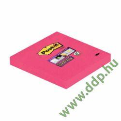 3M Post-it Super Sticky öntapadós jegyzettömb 76x76 mm, 90 lap, 654-6SS-PNK -70005251478-