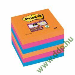 3M Post-it Super Sticky öntapadós jegyzettömb szivárványcsomag 76×76 mm, 90 lap, 6 tömb, Bangkok, 654-6SS-EG -70005253292-