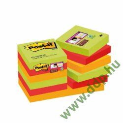 3M Post-it Super Sticky öntapadós jegyzettömb szivárványcsomag 48x48 mm, 90 lap, 12 tömb, Marrakesh, 622-12SS-MAR -70005271906-