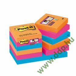 3M Post-it Super Sticky öntapadós jegyzettömb szivárványcsomag 48×48mm, 90lap, 12 tömb, 622-12SS-EG -70005252104-